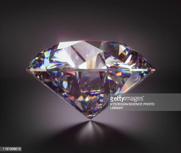 diamond gemstone, illustration - diamond gemstone stock pictures, royalty-free photos & images