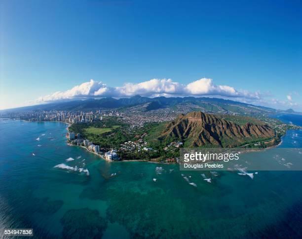 diamond head, honolulu, oahu, hawaii, usa - diamond head stock pictures, royalty-free photos & images