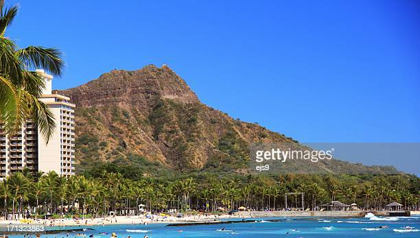 Diamond Head Honolulu Pacific ocean beach scenic, Oahu Hawaii
