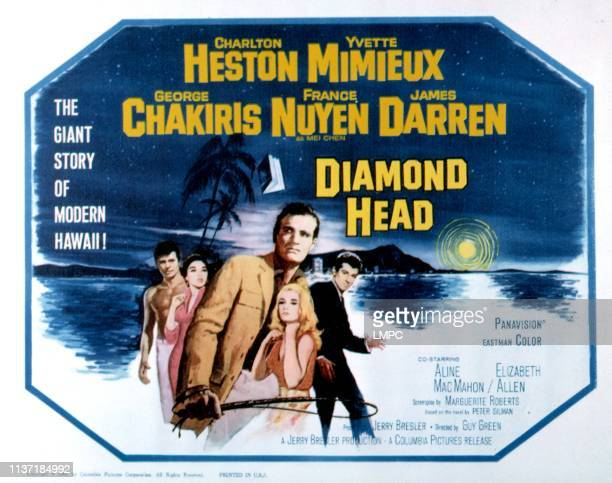 Diamond Head lobbycard US poster James Darren France Nuyen Charlton Heston Yvette Mimieux George Chakiris 1963