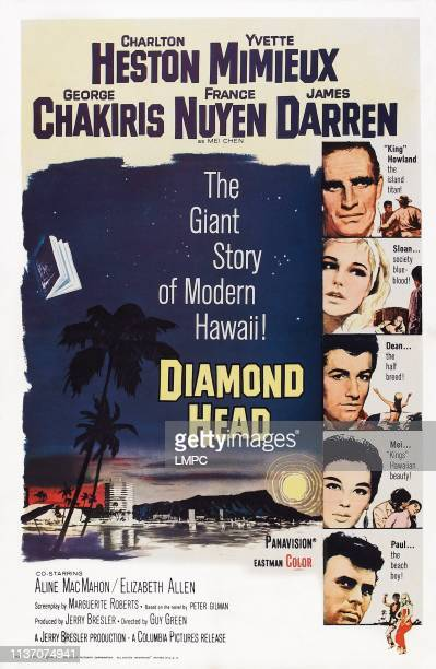 Diamond Head poster US poster from top Charlton Heston Yvette Mimieux George Chakiris France Nuyen James Darren 1963
