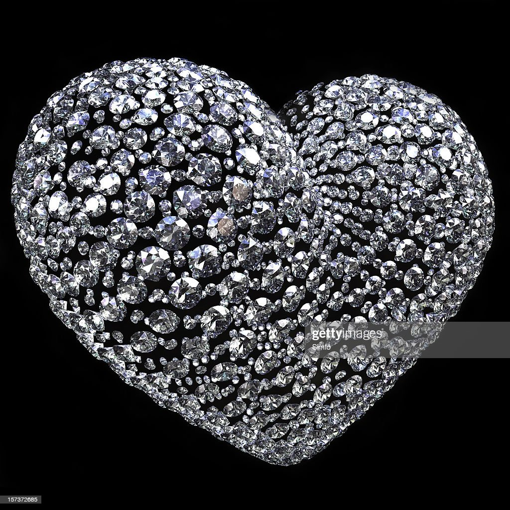 Diamond heart : Stockfoto