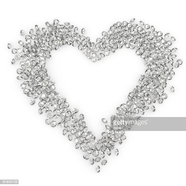 diamond heart - heart background stock pictures, royalty-free photos & images