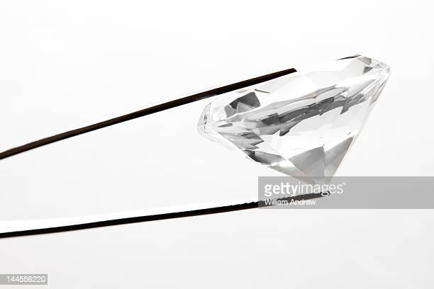 Diamond in jewelers tweasers