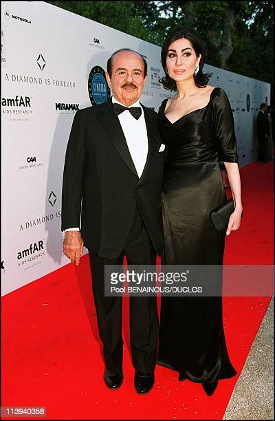 A diamond is foreverCinema against AIDS 2001 to benefit the American Foundation for AIDS Research In Mougins France On May 17 2001Adnan Khashoggi and...