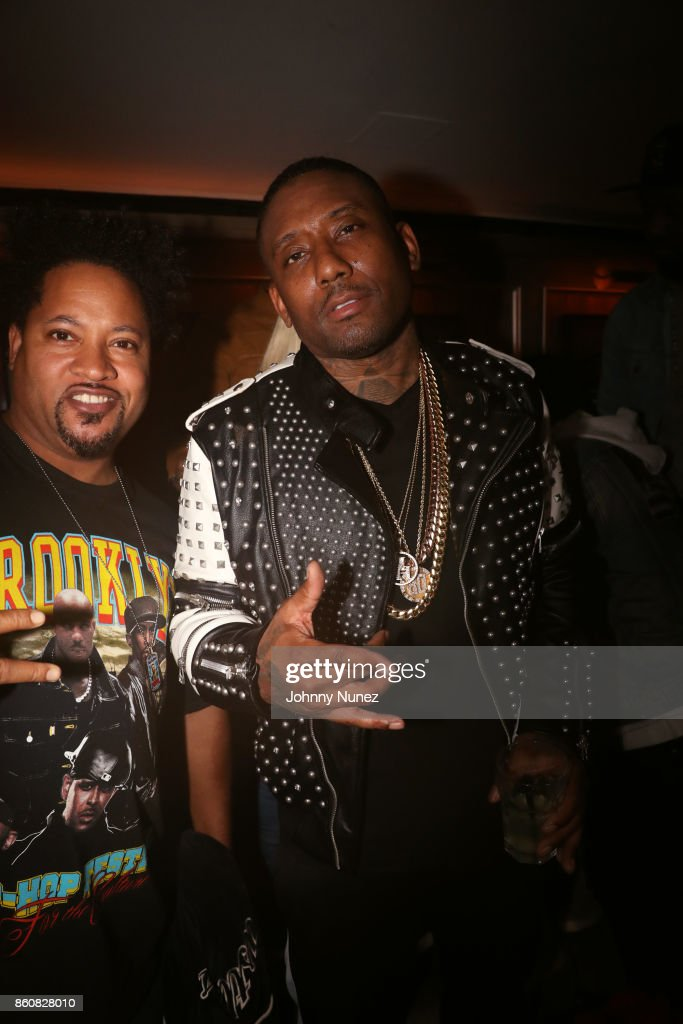 Diamond J (L) and Maino attend the MAINO Album Release Party at 40 / 40 Club on October 12, 2017 in New York City.