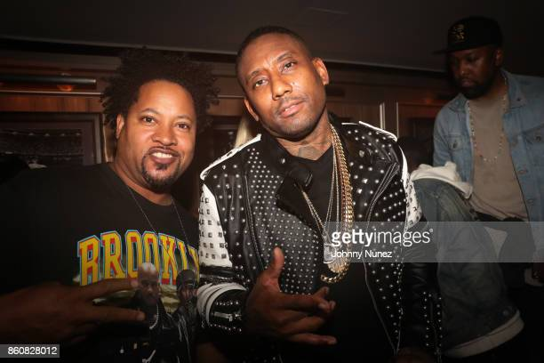 Diamond J and Maino attend the MAINO Album Release Party at 40 / 40 Club on October 12 2017 in New York City