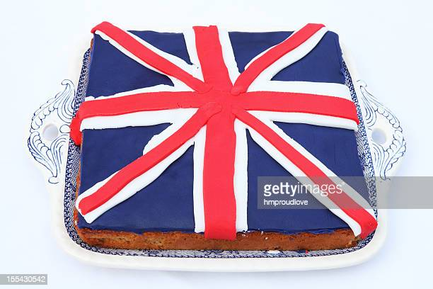 diamond jubilee cake - british flag cake stock pictures, royalty-free photos & images