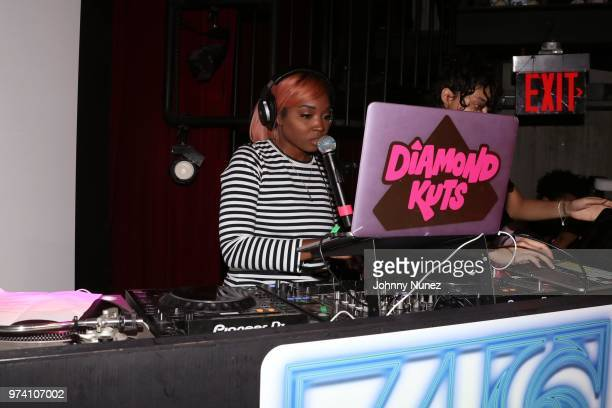 Diamond Kuts spins at the Atlantic Records Access Granted Showcase on June 13 2018 in New York City