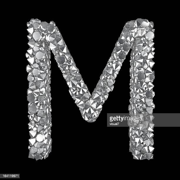 diamond letter m - letter m stock pictures, royalty-free photos & images