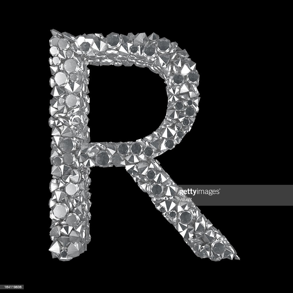 Diamond Letter R : Stock Photo