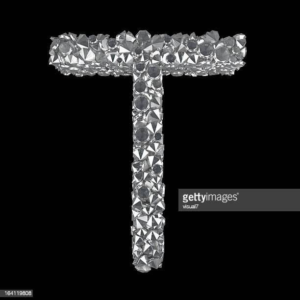 diamond letter t - letter t stock pictures, royalty-free photos & images