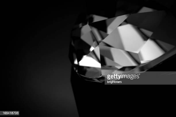 b&w diamond macro - diamond gemstone stock pictures, royalty-free photos & images