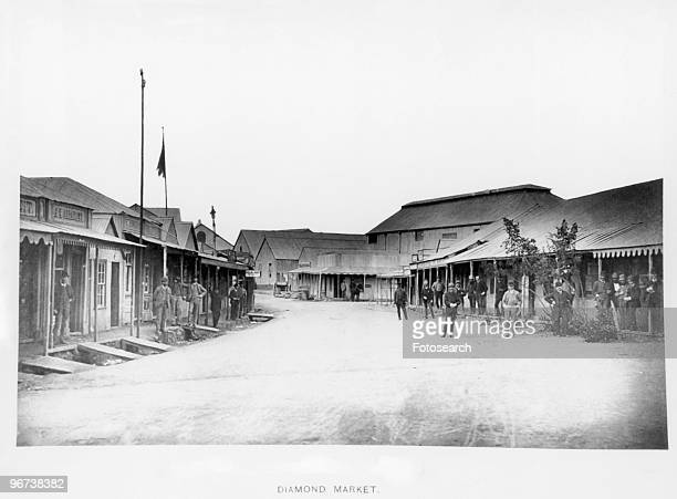 Diamond market In Kimberley South Africa circa 1888