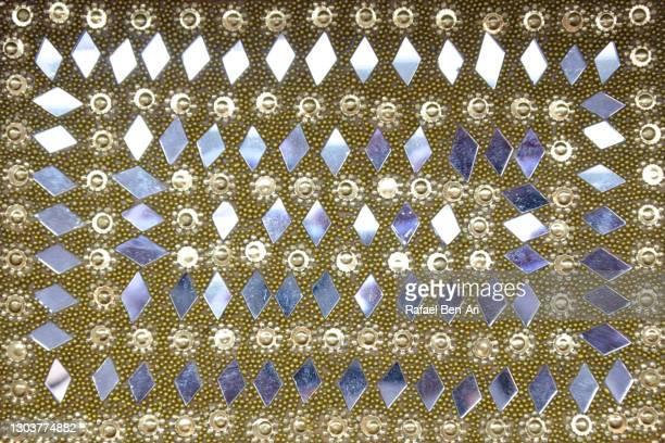 diamond mirrors shape and decoration background - rafael ben ari - fotografias e filmes do acervo