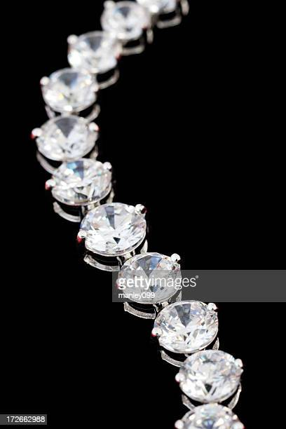 diamond necklace (macro shot) - bracelet stock pictures, royalty-free photos & images