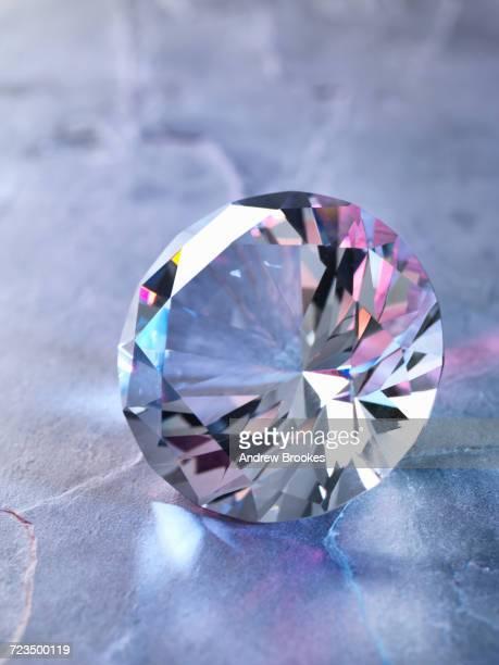 Diamond on piece of granite, close-up
