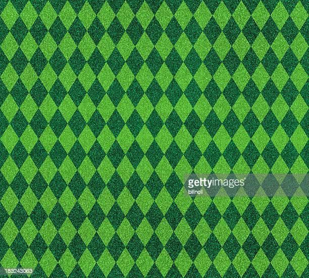 ダイヤモンドパターンの緑のグリッター