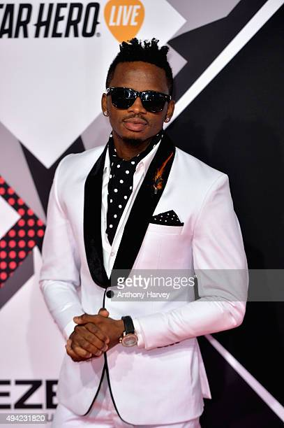 Diamond Platnumz attends the MTV EMA's 2015 at the Mediolanum Forum on October 25 2015 in Milan Italy