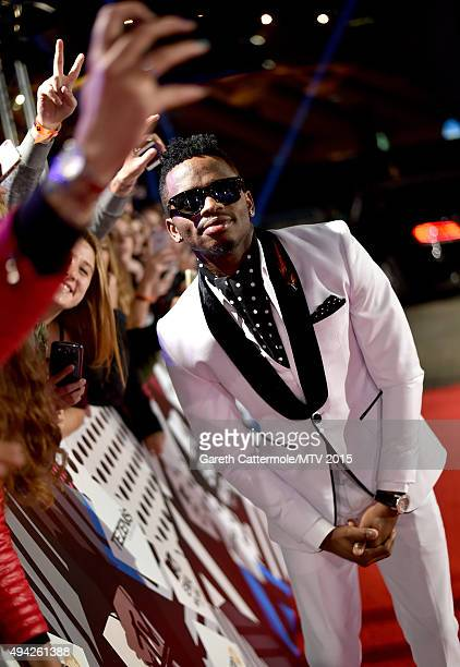 Diamond Platnumz on stage during the MTV EMA's 2015 at the Mediolanum Forum on October 25 2015 in Milan Italy