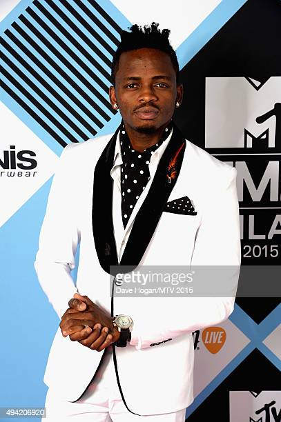 Diamond Platnumz poses for a portrait before the MTV EMA's at the Mediolanum Forum on October 25 2015 in Milan Italy