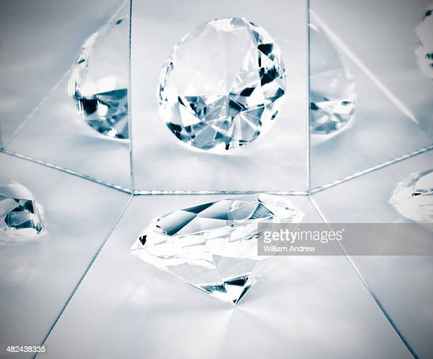 Diamond reflected in mirrors