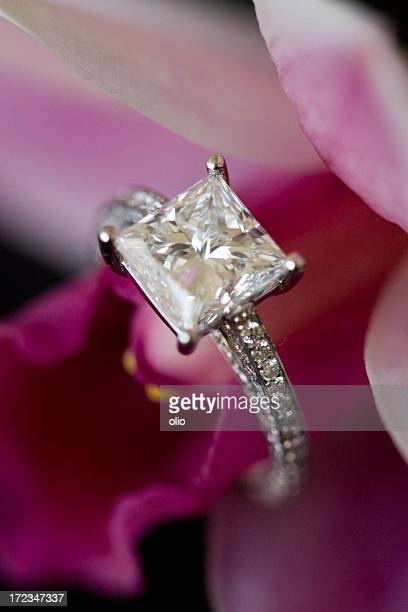 Diamond ring and orchid