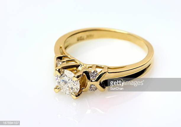 Diamantring in Gold
