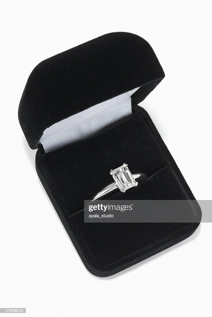 Diamond Ring in Jewelry Box : Stock Photo