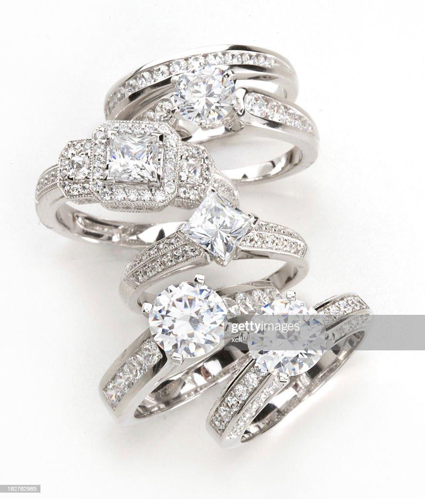 Diamond Rings : Stock Photo