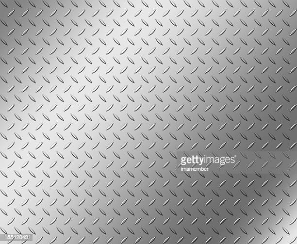 Diamond shape steel plate texture with copy space