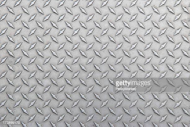 Sfondo di acciaio diamante battistrada leggermente consumato orizzontale