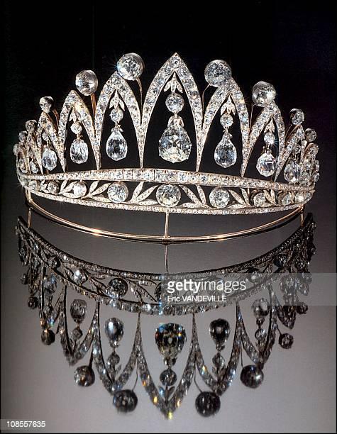 Diamond tiara belonging to princess Marie Jose who never wore it in Italy in December, 2002.
