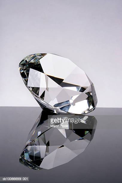 Diamond with reflection, close up