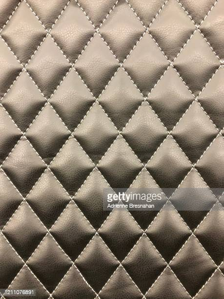 diamond-quilted leather - quilted stock pictures, royalty-free photos & images