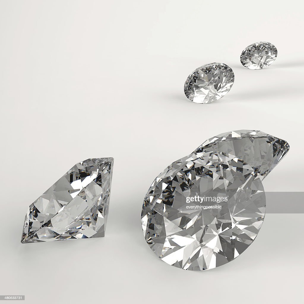 Diamonds 3d in composition as concept : Stockfoto