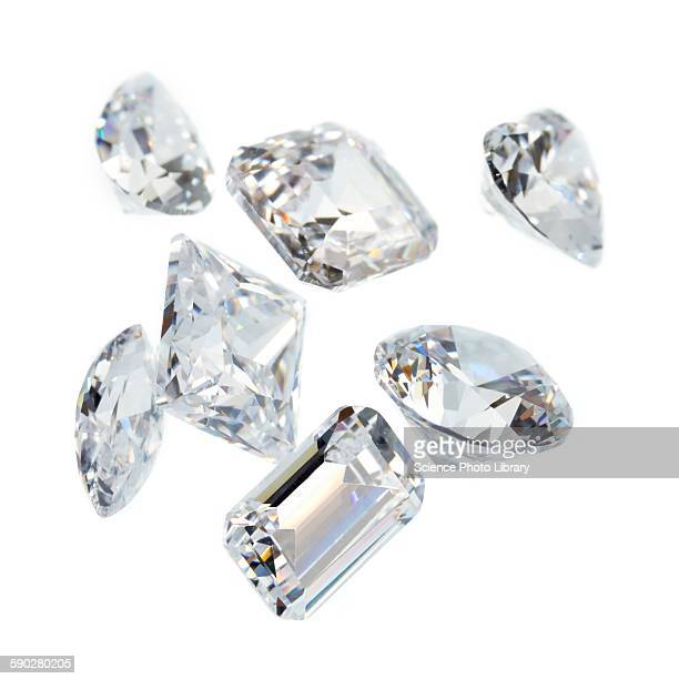 diamonds - diamond gemstone stock pictures, royalty-free photos & images