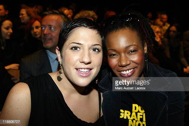 Diam's and China during Paris Fashion Week Autumn/Winter 2006 Ready to Wear Sonia Rykiel Front Row at Paris in Paris France