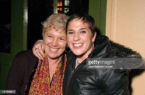 Diam's and her mother during Constantin 2003 Music Contest and Television Special at The Trianon in Paris France