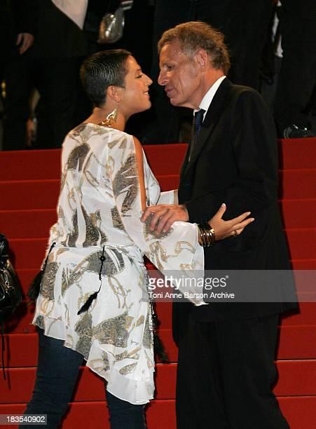 Diam's and Patrick Poivre D'Arvor during NRJ Music Awards 2007 Arrivals at Palais des Festivals in Cannes France