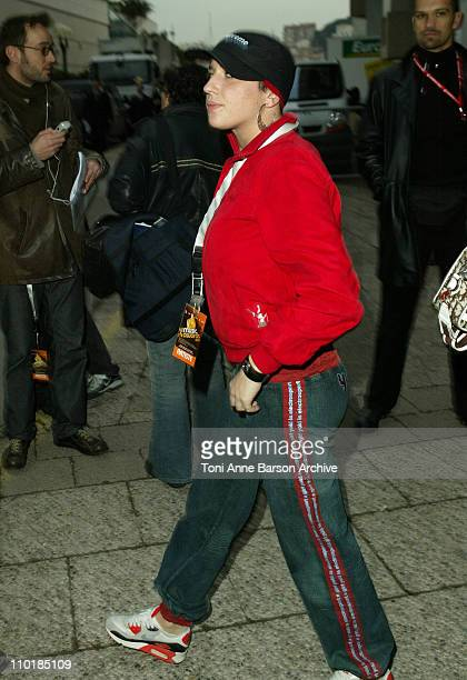 Diam's during 2004 NRJ Music Awards Rehearsal Arrivals at Palais des Festivals in Cannes France