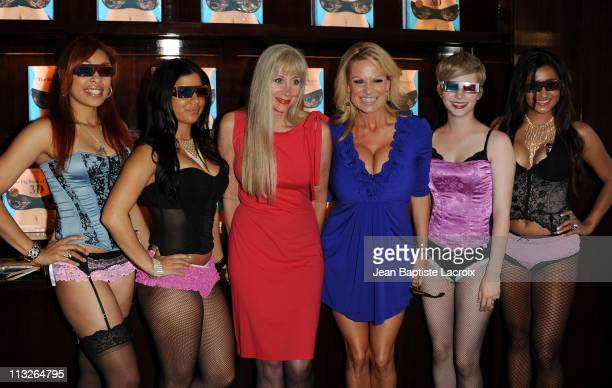 Dian Hanson and Kelly Madison attend The Big Book Of Breasts 3D book launch party at Taschen on April 28 2011 in Beverly Hills California