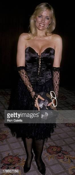 Dian Parkinson attends CBS TV Affiliates Party on May 20 1987 at the Century Plaza Hotel in Century City California