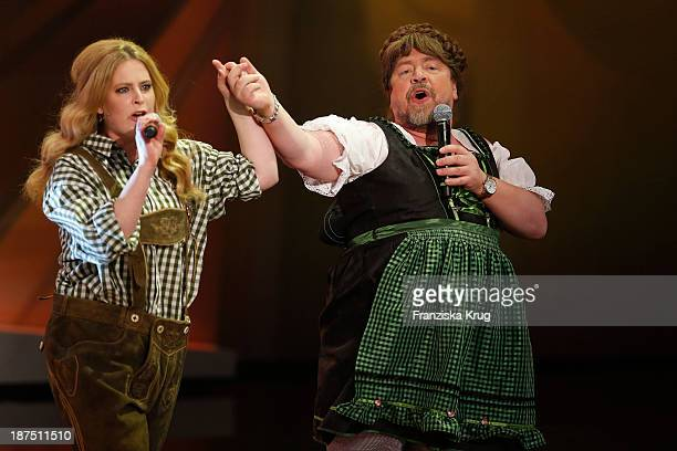 Diana Amft and Armin Rohde attend Wetten dass tv show on November 09 2013 in Halle an der Saale Germany