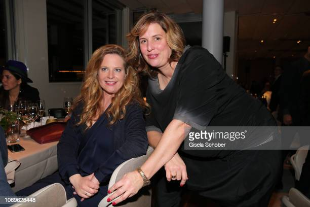 Diana Amft and Elena Uhlig during the ARD advent dinner hosted by the program director of the tv station Erstes Deutsches Fernsehen at Hotel...