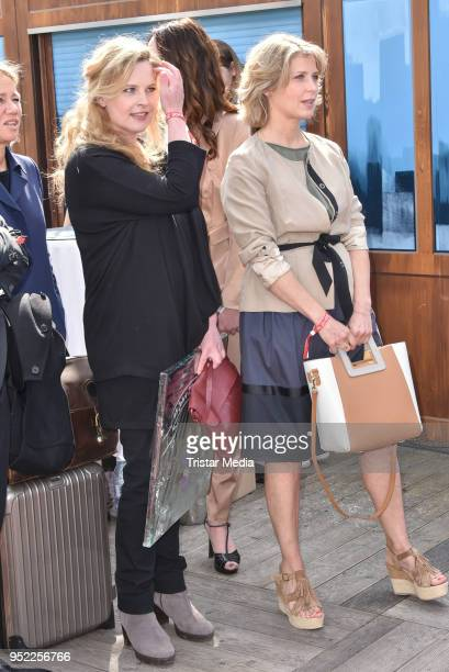 Diana Amft and Valerie Niehaus during the 45th anniversary celebration of Ziegler Film at Tipi am Kanzleramt on April 27 2018 in Berlin Germany