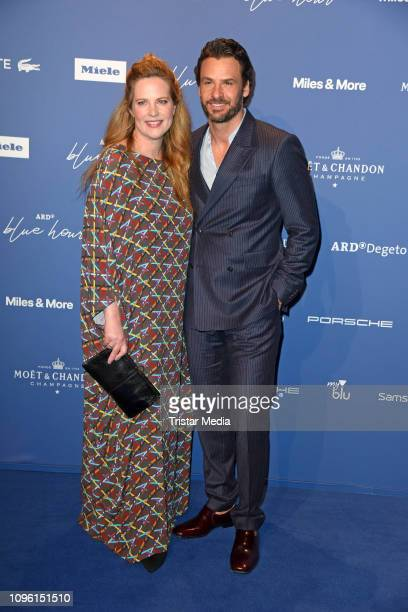 Diana Amft Stephan Luca during the Blue Hour Party hosted by ARD during the 69th Berlinale International Film Festival at Haus der Kommunikation on...