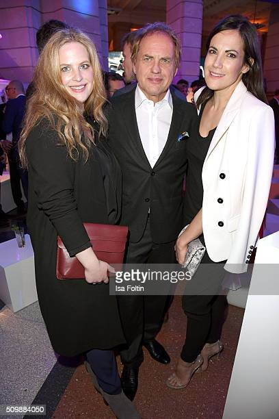 Diana Amft Uwe Ochsenknecht and Bettina Zimmermann attend the ARD Hosts Blue Hour Reception on February 12 2016 in Berlin Germany