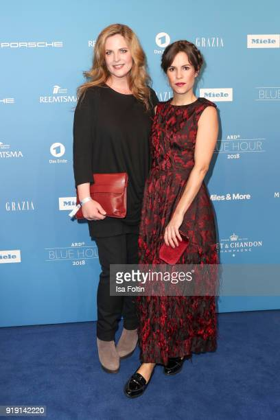 Diana Ampft and Birte Wolter attend the Blue Hour Reception hosted by ARD during the 68th Berlinale International Film Festival Berlin on February 16...