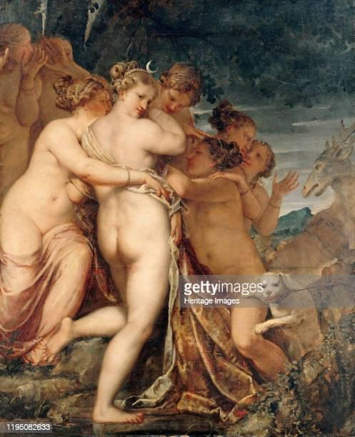 Diana and Actaeon circa 1600 Found in the Collection of Staatliche Museen Berlin Artist Liberi Pietro